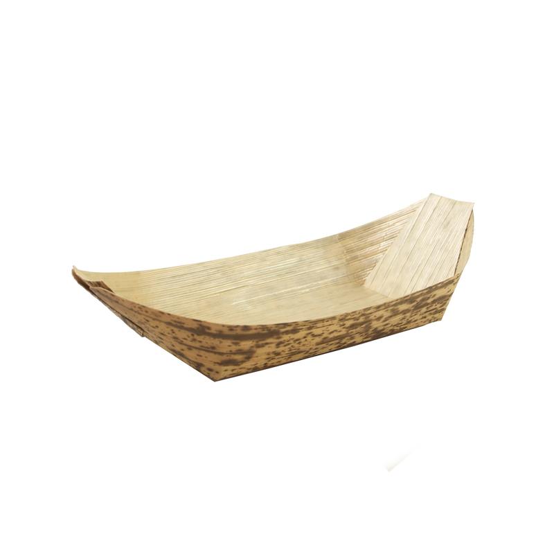 Bamboo Leaf Boat -0.5oz  L:3.6 x W:1.75 x H:.4in