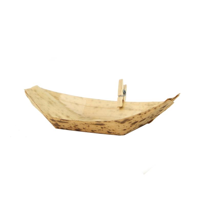 Bamboo Leaf Boat -1.5oz  L:3.6 x W:2.05 x H:.51in
