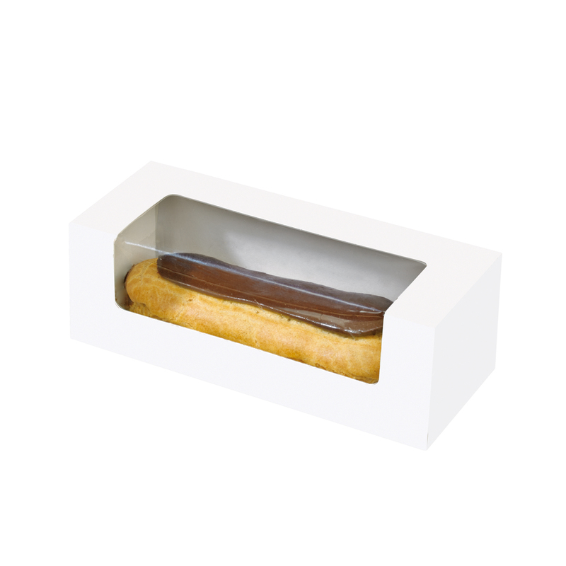 Box With Pe Window Perfect For Pastry, Eclair, Hot Dog, And More -  L:5.9 x W:2.45 x H:2in