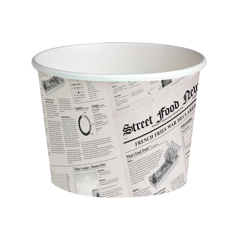 Deli News Printed Containers -24oz Dia:4.5in H:3.85in