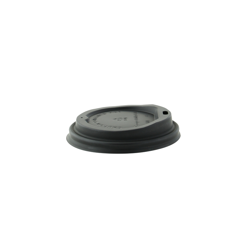 Black coffee lid - Dia: 3.54in