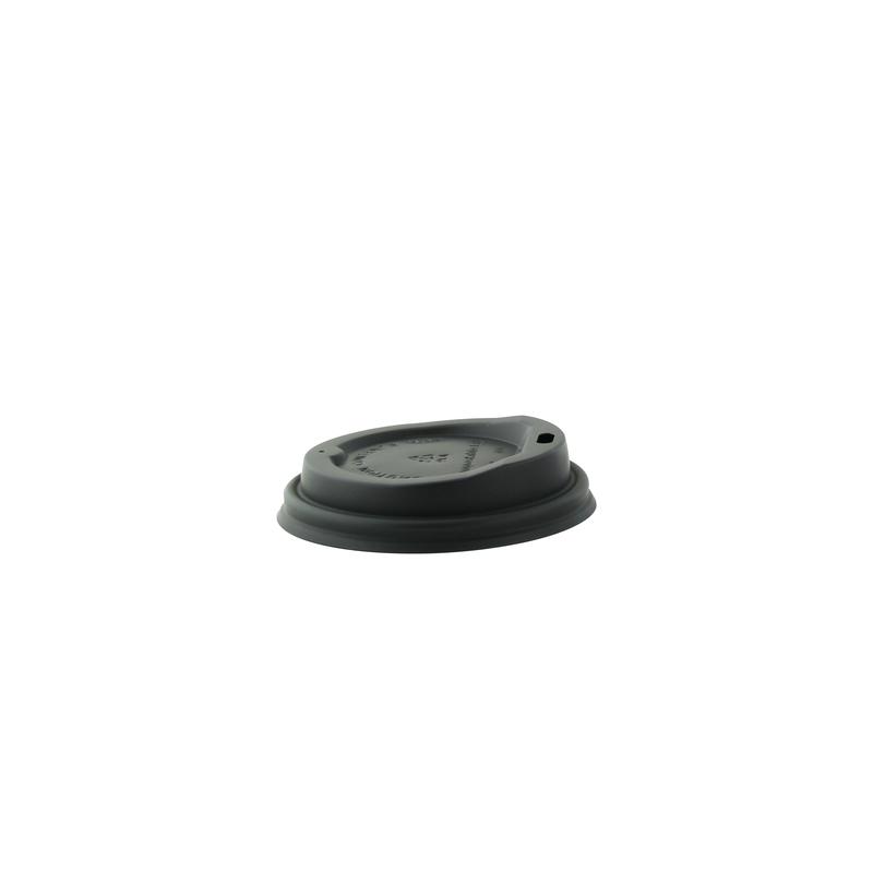 Black coffee lid - Dia: 3.15in