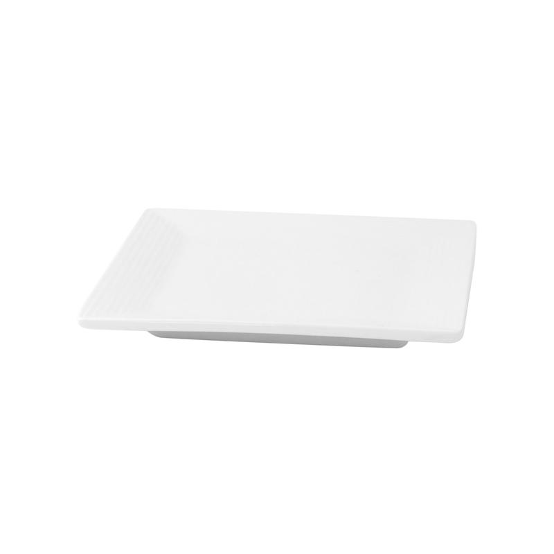 Mini White Square Dish -  L:3.98 x W:3.98 x H:.5in