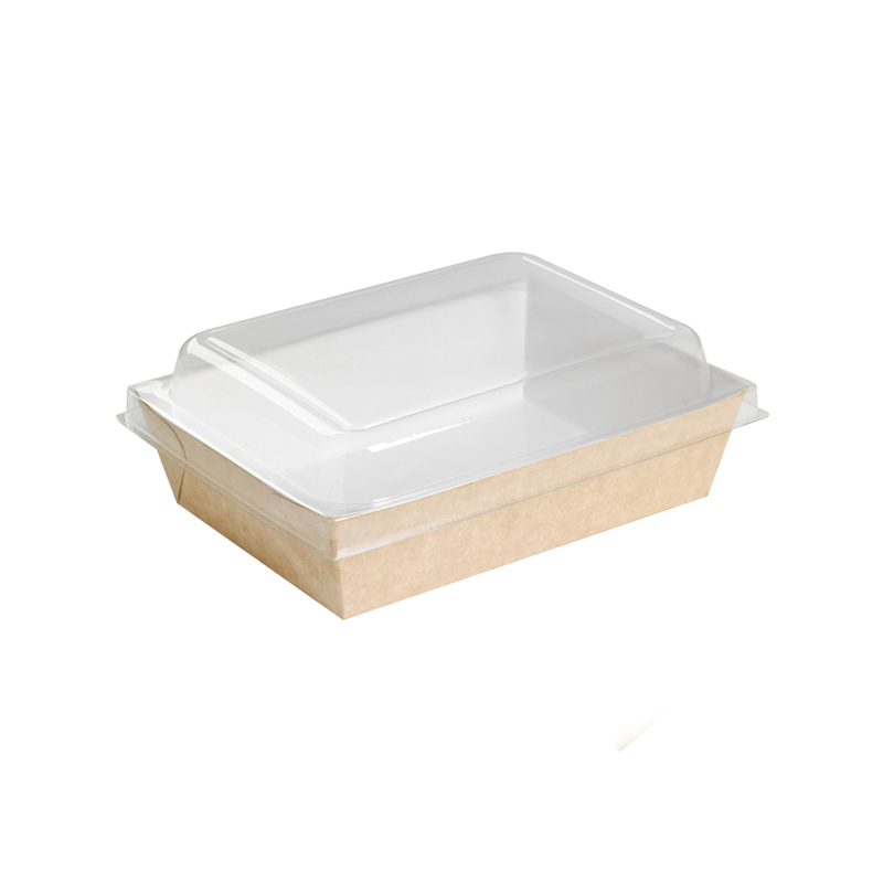 Brown Paper Salad Box 28 oz L:6.75 x W:4.85 H:1.5 inches