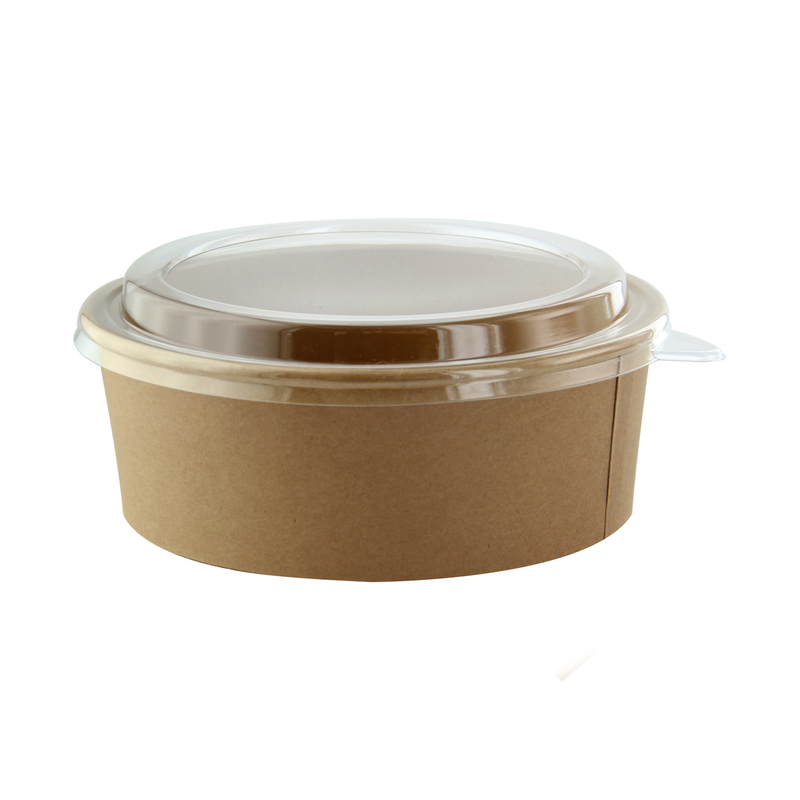Buckaty - Round Kraft Salad Bucket With PET Lid - 44 oz