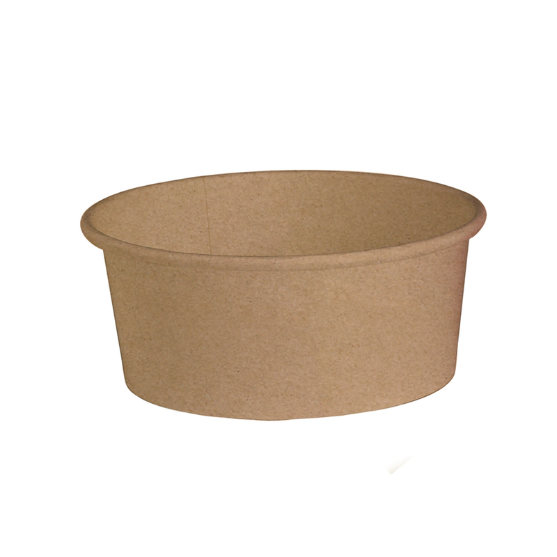 Buckaty Round Kraft To Go Container -24oz Dia:5.85in H:2.38in