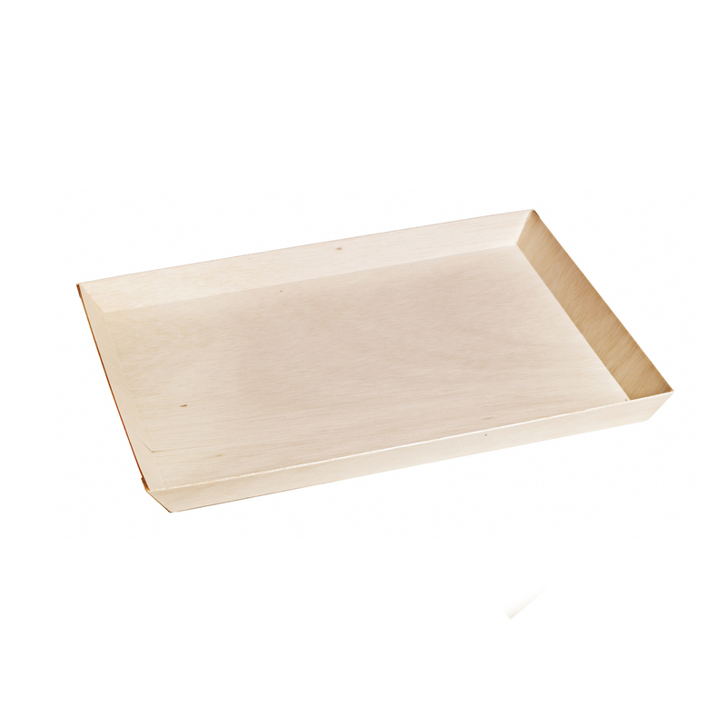 Rectangular Samurai Wooden Serving Tray -  L:15.1 x W:10.95 x H:1.05in