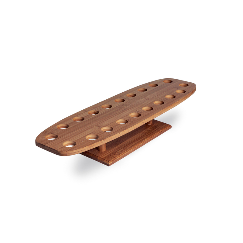 20 Holes Bamboo Cone And Temaki Display -  L:9.8 x W:3.53in x H:3.4in