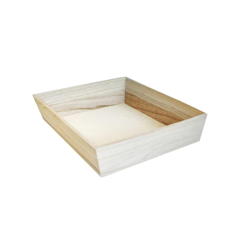 NOAH26H Heavy Duty Wooden Tray -  L:11 x W:11 x H:2.75in