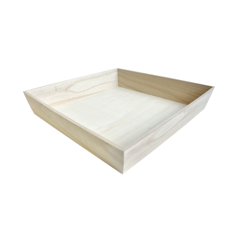 NOAH32H Heavy Duty Wooden Tray -  L:12.5 x W:12.5 x H:2.8in