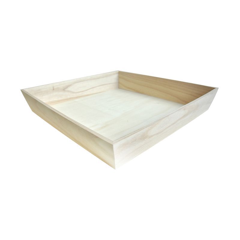 NOAH4040H Heavy Duty Wooden Tray -  L:15.9 x W:15.9 x H:2.8in