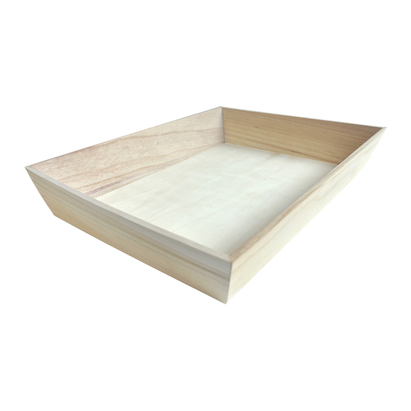 NOAH40H Heavy Duty Wooden Tray -  L:16 x W:12in H:2.9in