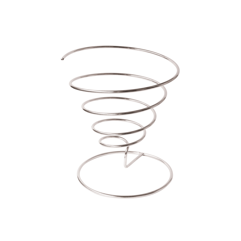 Spiral Stainless Steel Basket - 7 in.