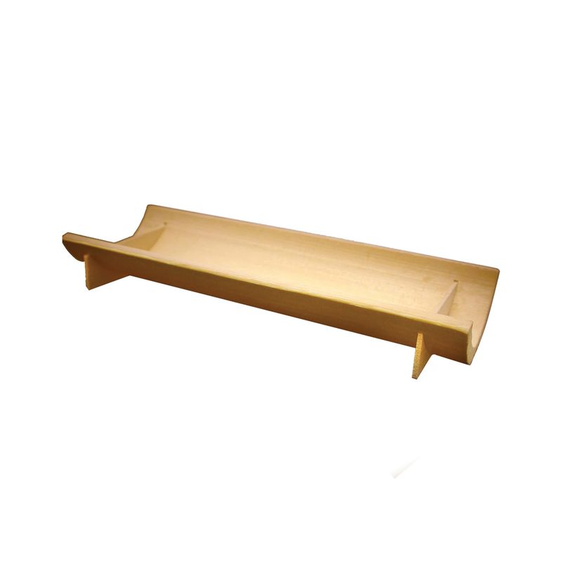 Koshu Half Circular Bamboo Dish -  L:5.7 x W:2.25 x H:1in