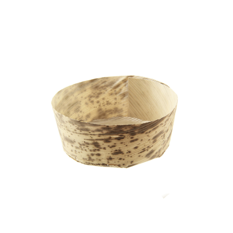 Anno Round Mini Bamboo Leaf Basket -3oz Dia:2.75in H:1in