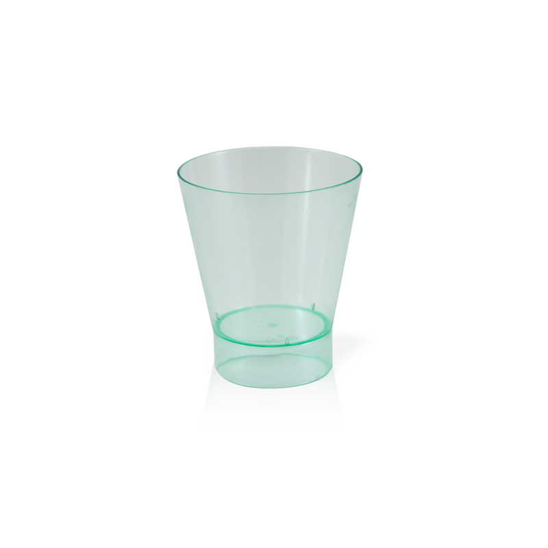 Pavlos Transparent Green Cup -6oz Dia:2.95in H:3.4in