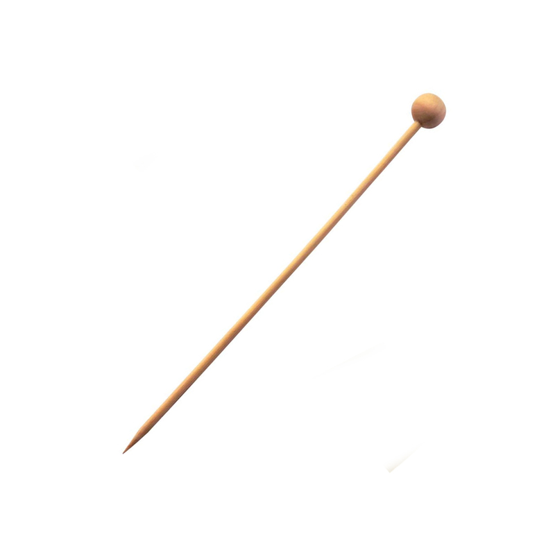 Natural Bamboo Ball Skewer -  L:5.45in
