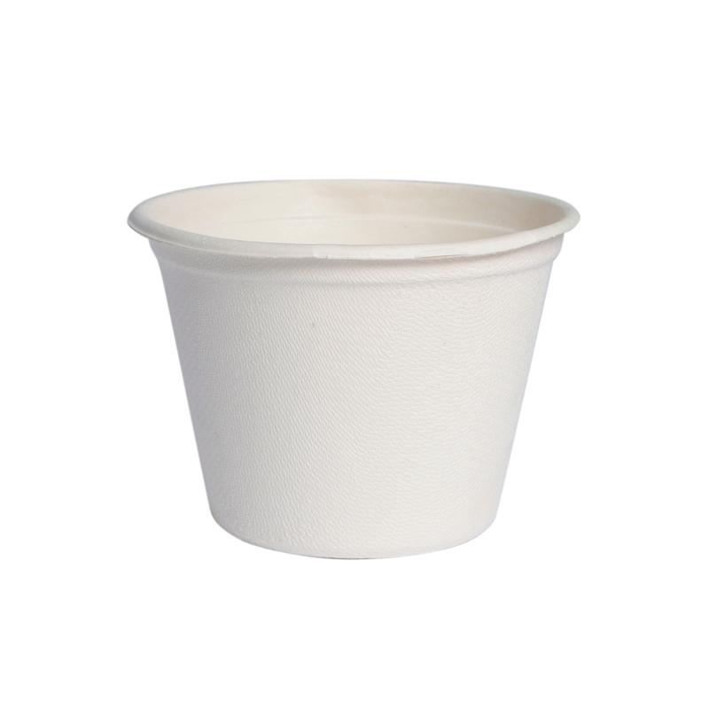 White Mini Sugarcane Cup -4.7oz Dia:3in H:2.1in
