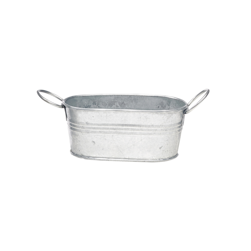 Mini Metal Tub Bucket - 4.6 in.