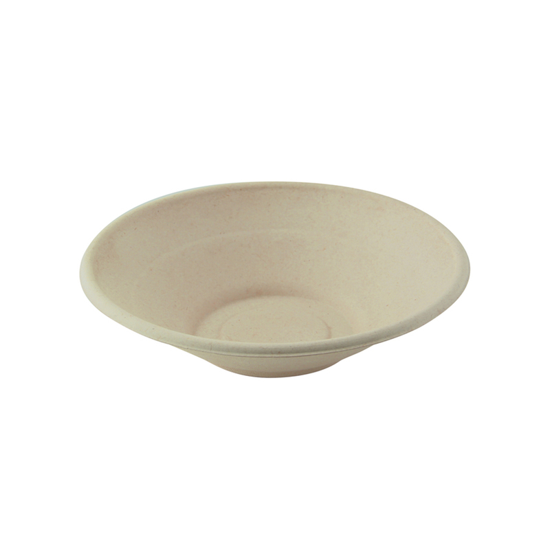 Round Brown Sugarcane Bowl -24oz Dia:7.75in H:2in