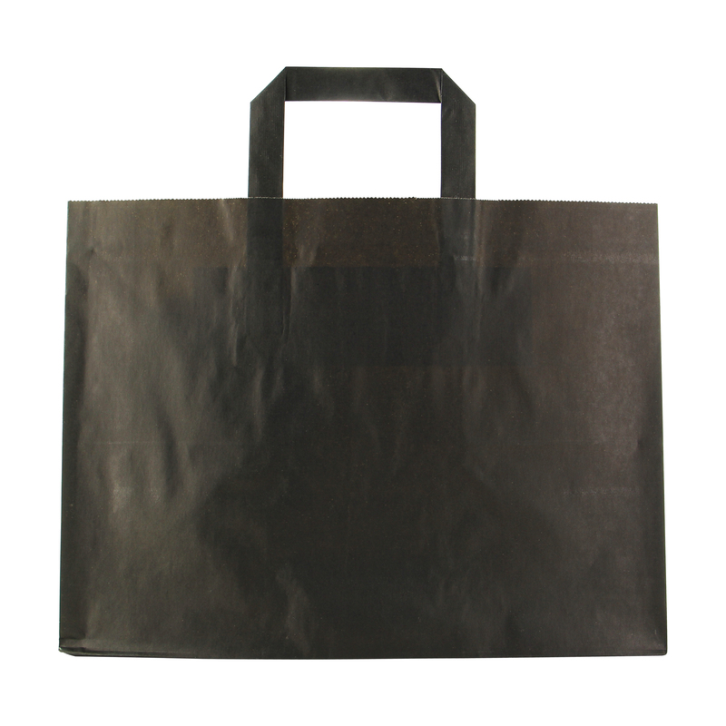 Black Large & Wide bag - 12.6 x 8.7 x 9.5 in.