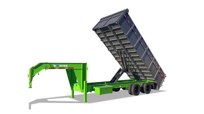 I-Beam Frame Deckover Dump Trailer