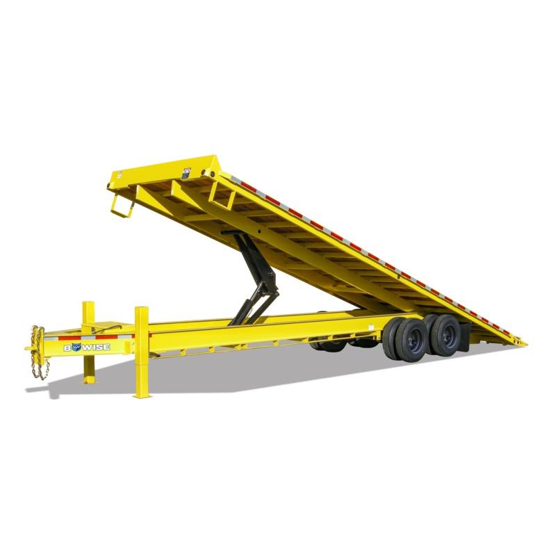 I-Beam Frame Deckover Hydraulic Tilt Trailer