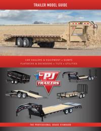 PJ Trailers Model Guide