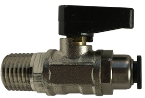 Ball Valve Male NPTF Push Fit Connections