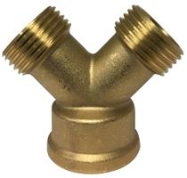 Cast Brass Hose - Y Connector