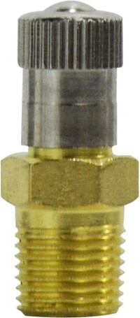 Tank and Vent Valve  1/8 NPT .9 Long Spring Cord