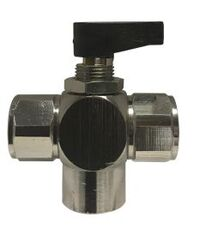3 Way Closed Center Panel Mount N/P Ball Valve