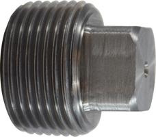Steel 1 NPTF Midland 67-655 Black Steel Square Head Plug