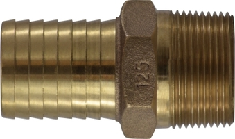 Bronze Barbed for Plastic Pipe Male Adapter