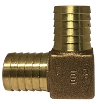 Lead Free Bronze Barbed for Plastic Pipe Union Elbow