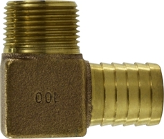 Bronze Barbed for Plastic Pipe Male Elbow
