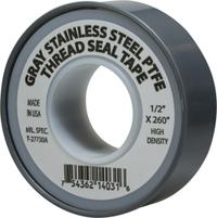 Grey Stainless Steel Tefon Tape