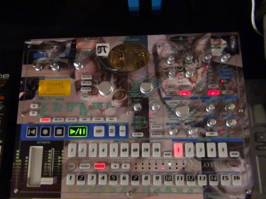 Korg Electribe with custom cat skin