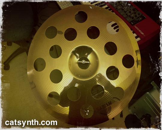 Cymbal at CatSynth HQ