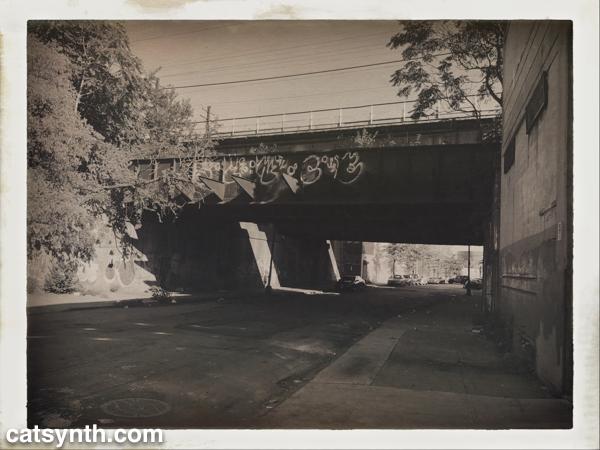 Point Morris, Bronx, street under train tracks