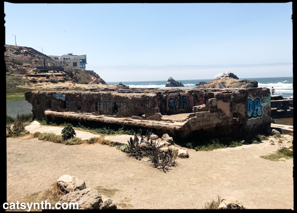 Sutro baths and Cliff House in the distance.