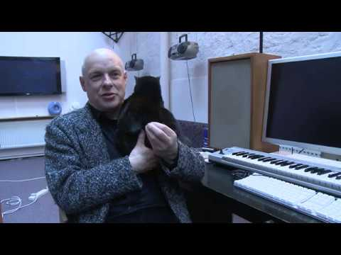 CatSynth Video: Brian Eno and his manipulative cat, Angel