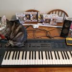 CatSynth Pic: Eggo and Korg DW8000