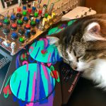 CatSynth Pic: Dino Dreams of Drum Machines