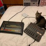 CatSynth Pic: Roland Rhythm Composer and Tascam Mixer