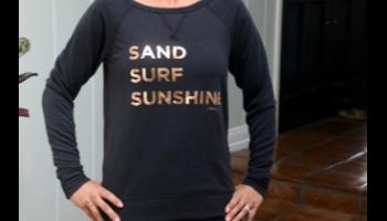I Am My Story Sweatshirt - Sand Surf Sunshine