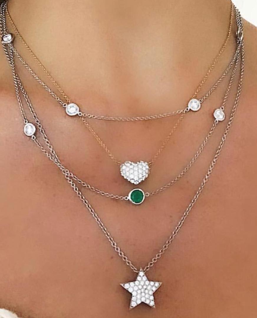Diamond Star Necklace - Alexandra Jules