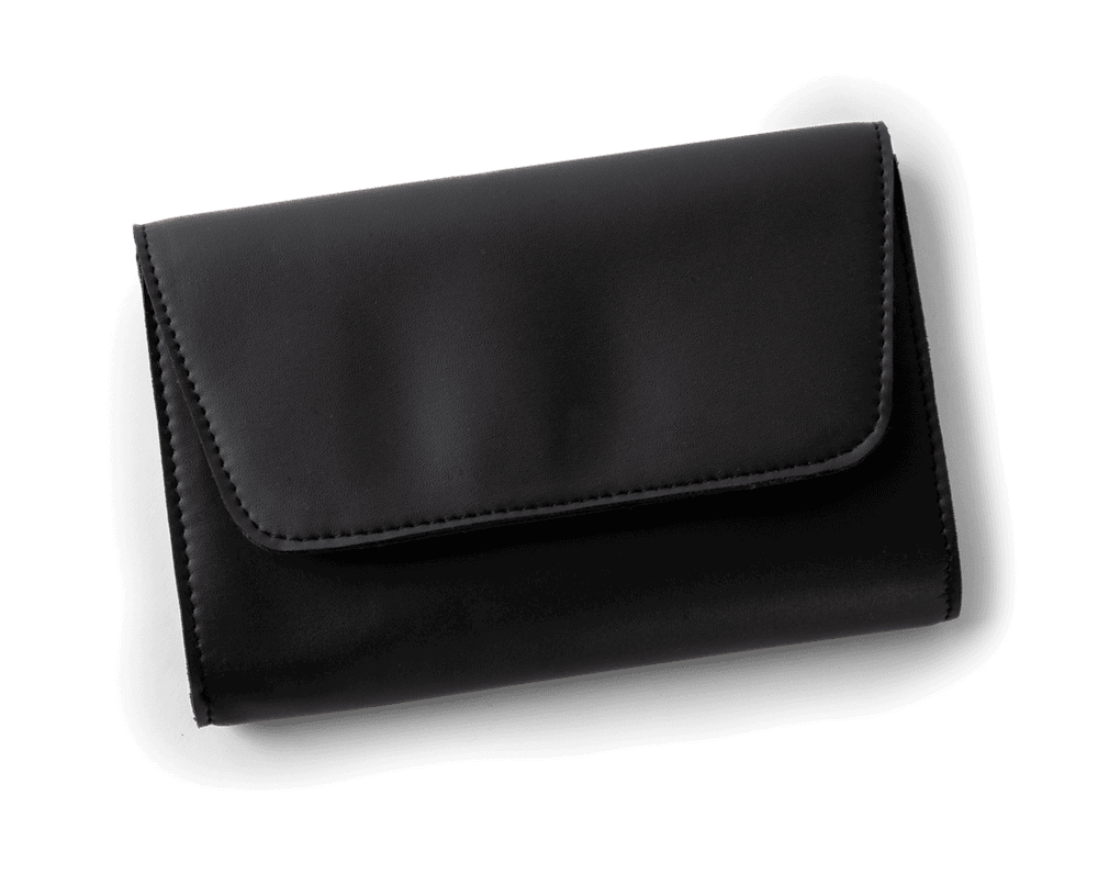 Vegan Leather Clutch in Black