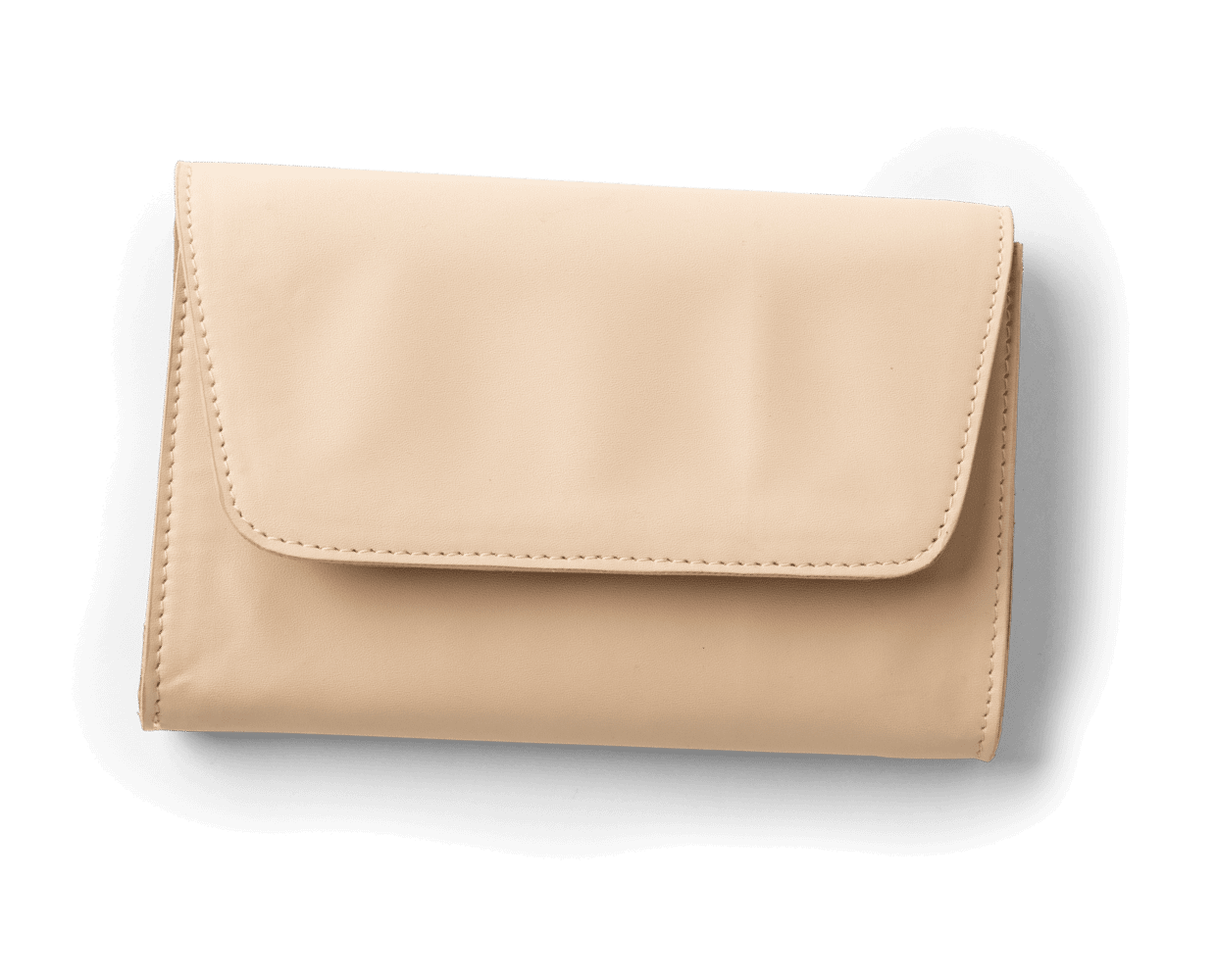 Vegan Leather Clutch in Natural