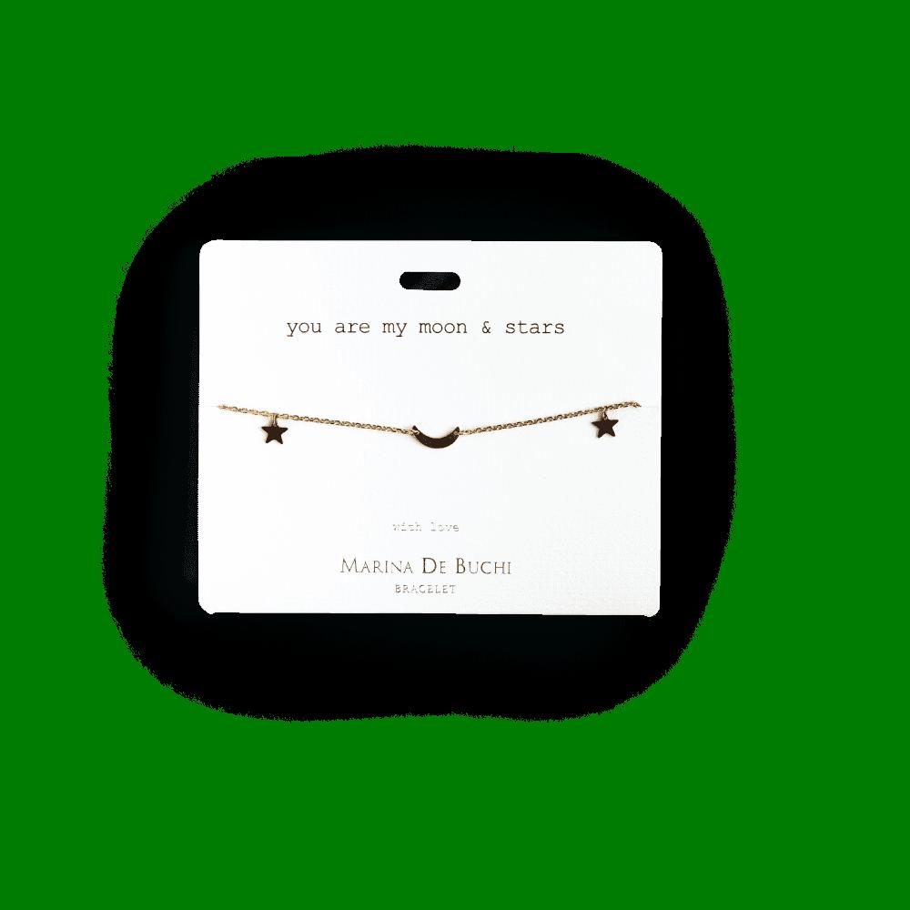 Luxe Charm Bracelet in Moon & Stars